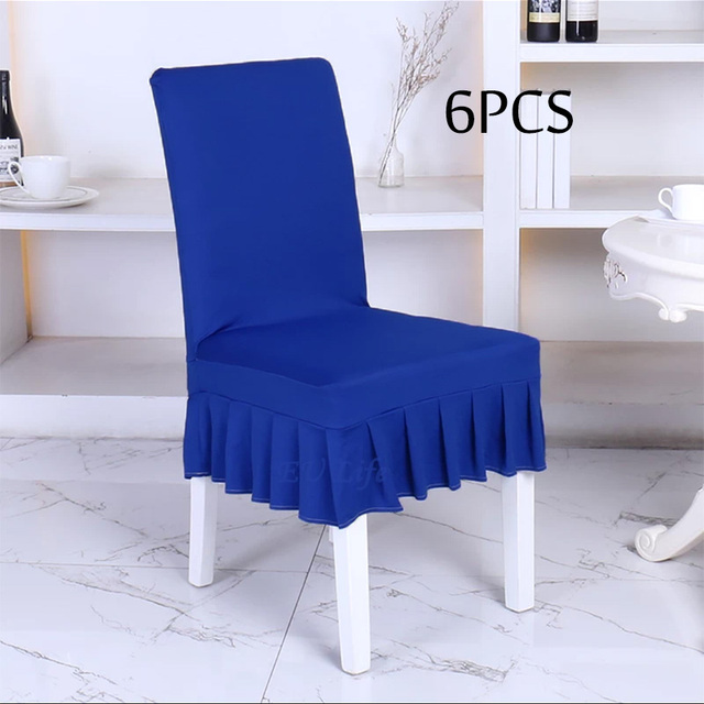 6 Unidades de Lycra spandex Fundas para sillas de Comedor hogar ...