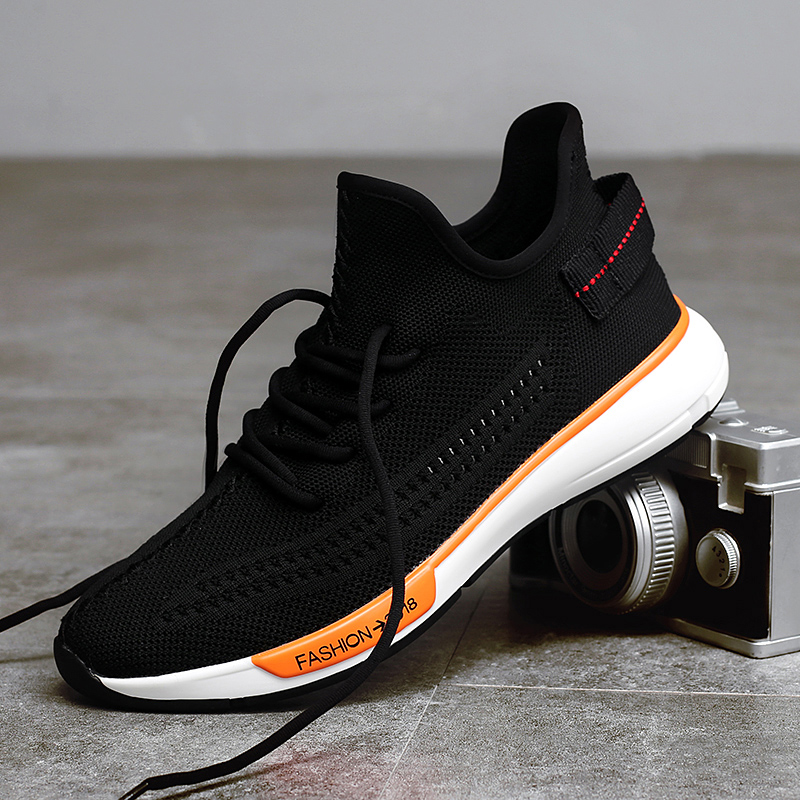 DEKESEN Men Mesh Breathable Casual Shoes Spring Summer Breathable Lace Up Sneakers Fashion Light Weight Canvas Shoes Men
