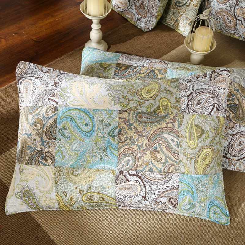 Paisley Pattern Handmade 3-Piece 100/% Cotton Queen Size Patchwork Quilts and Bedspreads