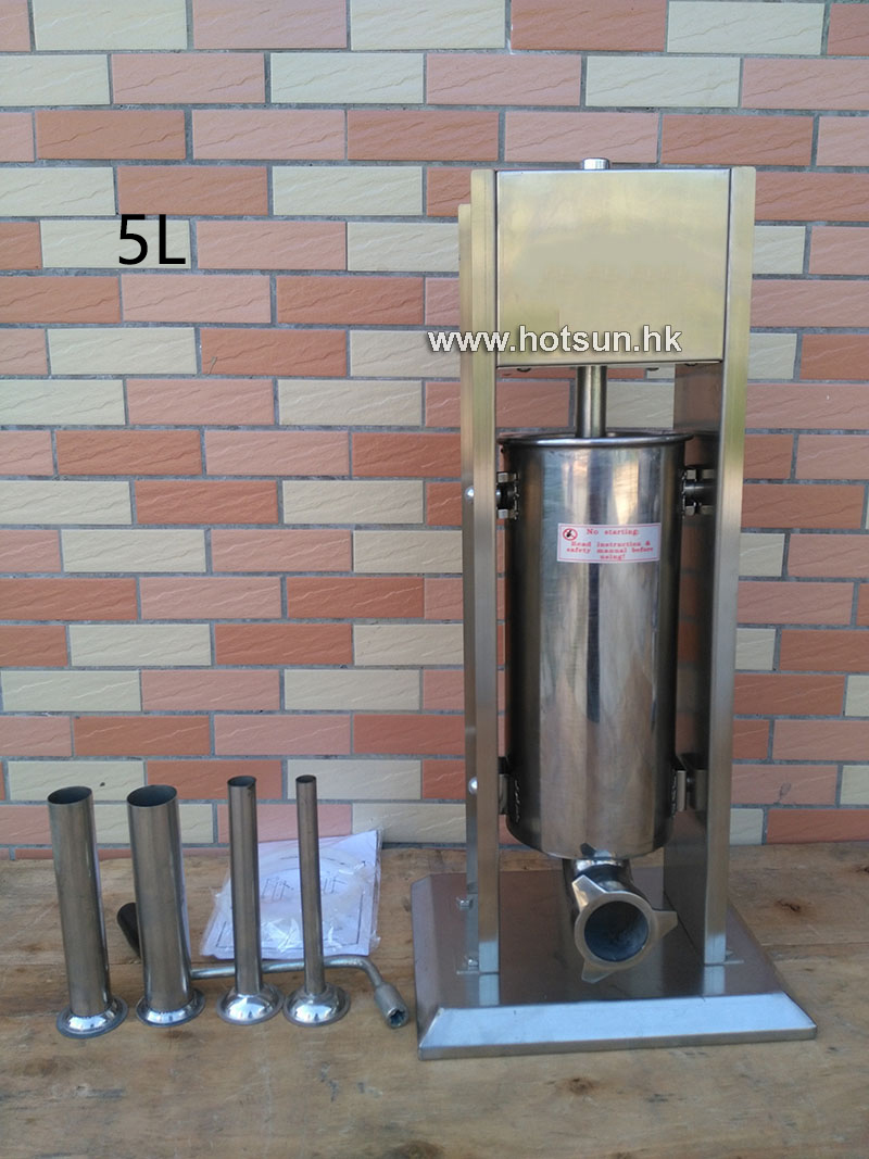 Free Shipping 5L Stainless Steel Manual Home Restaurant Sausage Stuffer Sausage Salami Maker Sausage Filler Machine economic s steel manual s series sausage filler for hotel butcher home use and hunters