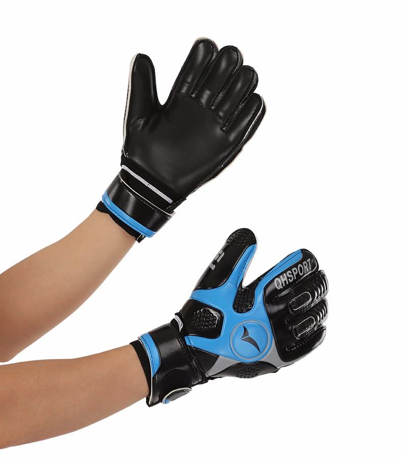 2017 Men Soccer Goalkeeper Gloves Wearable Slip Resistant Football Keeper Latex Goalie Gloves Professional Double Protection 8