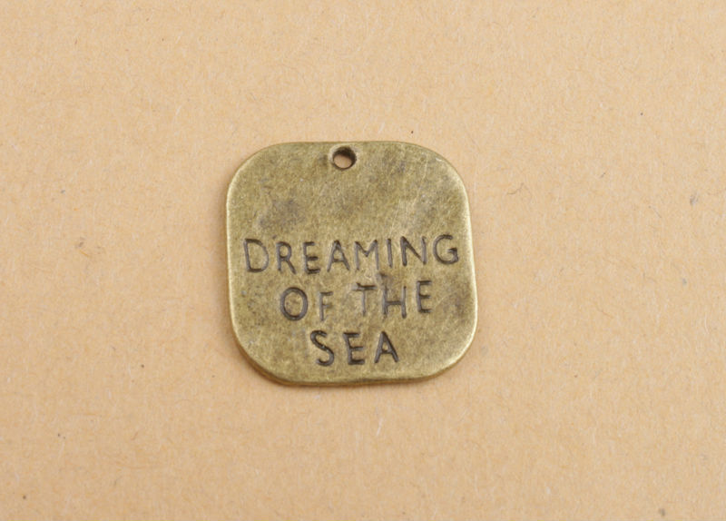 30PCS Antiqued Bronze DREAMING OF THE SEA Charm Pendants #91324