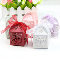 50pcs Lot Romantic Candy Box Paper Laser Cut Gift Boxes For Wedding Decoration Vintage Wedding Favors