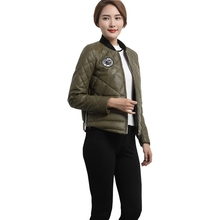 Ptslan 2016 Women's Genuine Leather Jacket Zipper Closure Real Lambskin Sport Coat