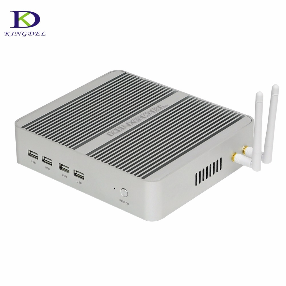 Newest Intel Mini PC 7th Gen. I5 7200U I3 7100U Dual Core Fanless Computer 8GB RAM 256GB SSD Metal Case  HDMI VGA 8*USB 4K HTPC