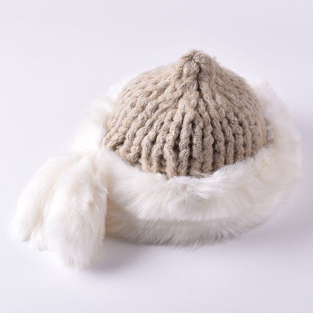 37e12c7fa63 Winter Fur Hat for Women Fashion Casual Rabbit Hat 6 Color Knitted Beanies  New Sale High