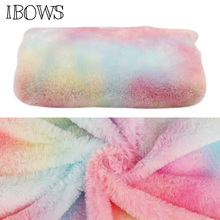 50*160cm Winter Plush Fabric Rainbow Color Warm Fabric DIY Home Textile Clothes Toy Crafts Sewing Artificial Fur Fabric