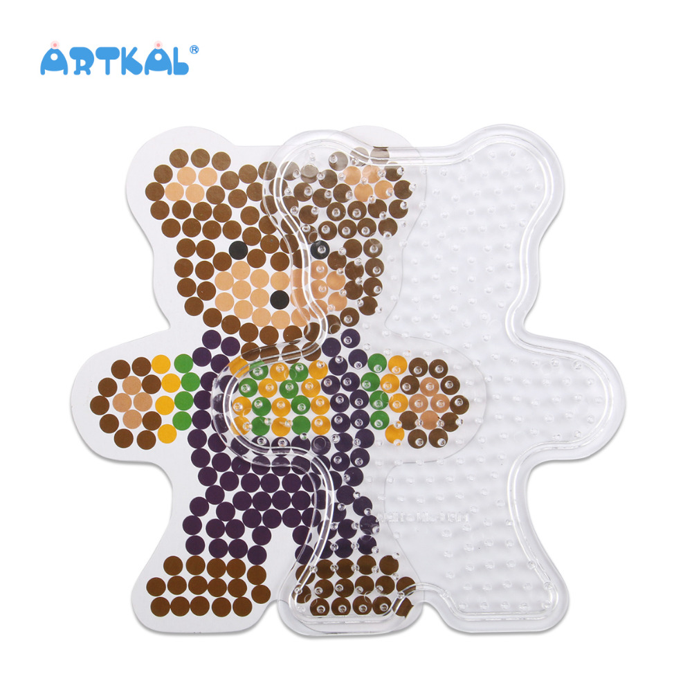 Envío libre SP07 oso patrones pegboards para 5mm hama beads perler ...