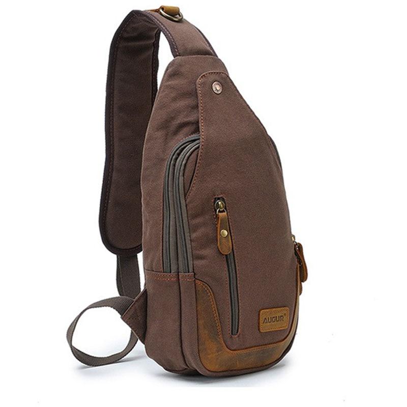 Us 26 67 7 Off Casual One Strap Backpack Men Rugzakken Canvas Chest Bag Small Crossbody Shoulder Back Pack Women Single Rucksack In