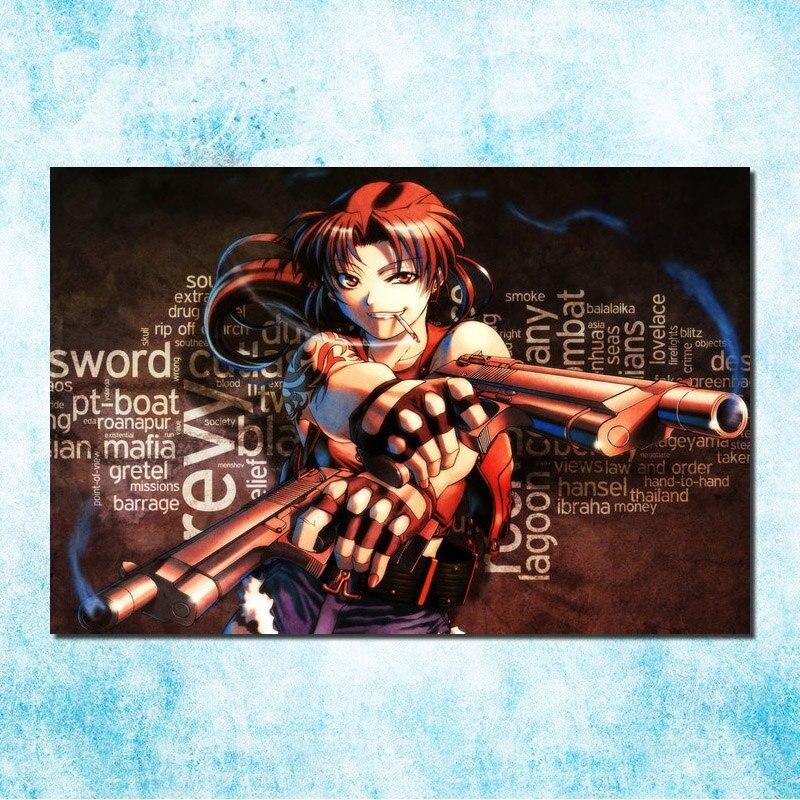 Black Lagoon Revy Anime Art Silk Poster 13x20 24x36 inch