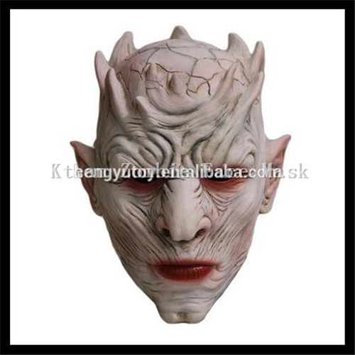 Top Grade 100% Latex The game Walker Face Mask NIGHT KING Zombie Mask Halloween Cosplay Scary Adult Throne Costume Mask Toys
