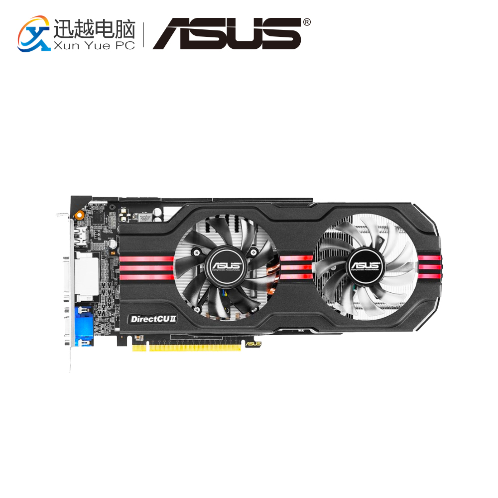 ASUS GTX 650TI-DC2O-1GD5 Original Graphics Cards 128 Bit GTX 650 Ti GDDR5 Video Card VGA 2*DVI HDMI For Nvidia Geforce GTX650 Ti цена