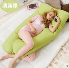 Embarazo Cómodo tipo U almohadas almohada de Cuerpo Para Las Mujeres Embarazadas Mejor Para los que Duermen de Lado Extraíble 4 color #25