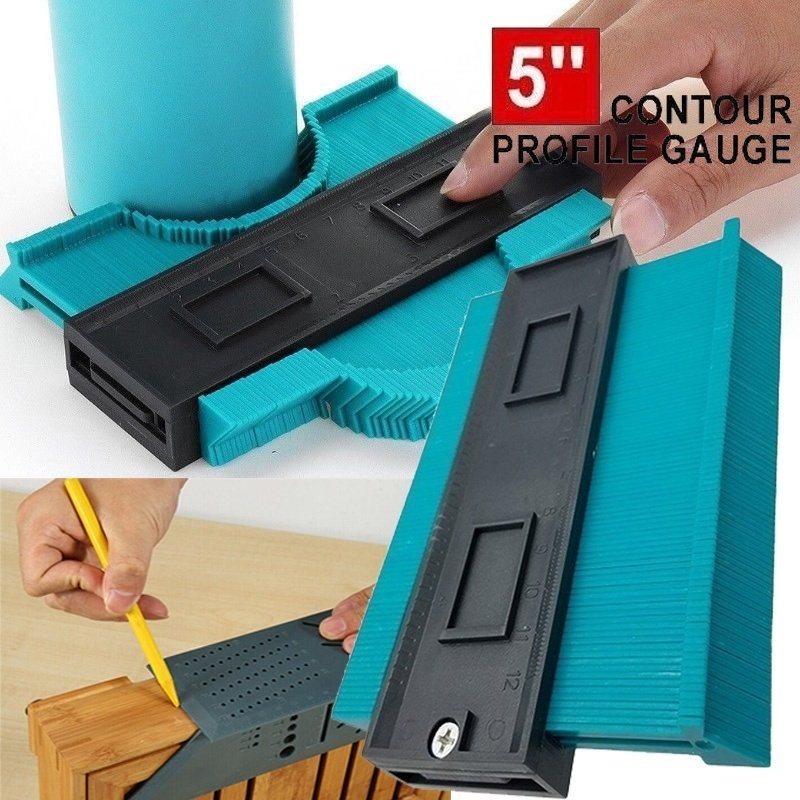 5-Inch Plastic Contour Gauge Duplicator Copy Irregular Shapes For Perfect Fit And Easy Cutting Profile Measuring Tool