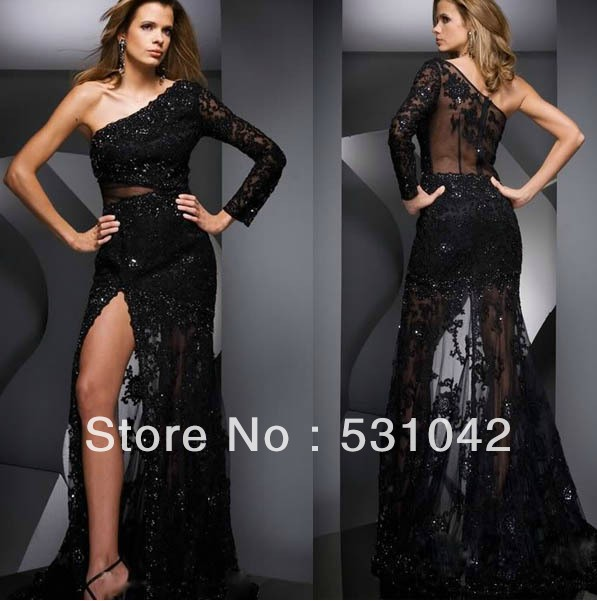 Black Sheer Evening Dress
