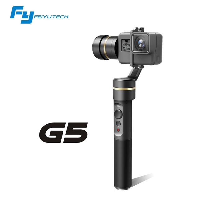 Feiyutech loja oficial fy handheld 3-axis gimbal para gopro hero 5 g5 e outras câmeras de ação à prova d' água g5 fy cardan