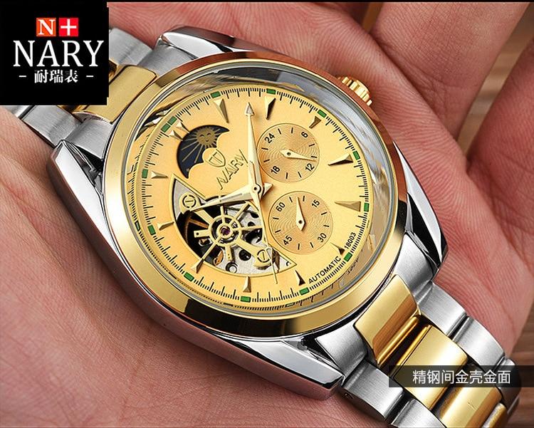 DIDUN montre hommes de luxe en acier quartz montre hommes d'affaires chronographe montre sport montres 30 M étanche - 3