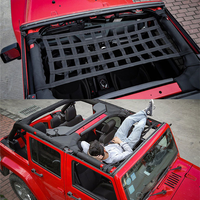 Heavy Duty Cargo Roof Top Soft Cover Rest Bed Hammock For Jeep
