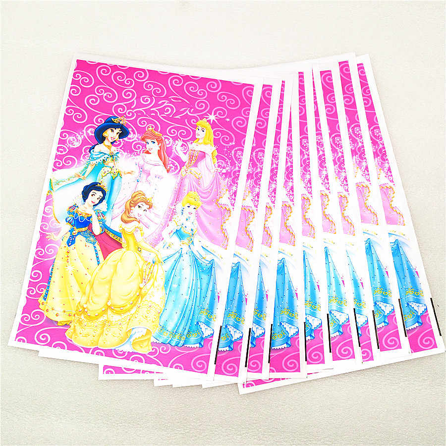 10 P Ariel/หิมะสีขาว/Belle/Cinderella/จัสมิน/Aurora เจ้าหญิงพลาสติกของขวัญถุงของขวัญเด็กวันเกิด PARTY อุปกรณ์ตกแต่ง