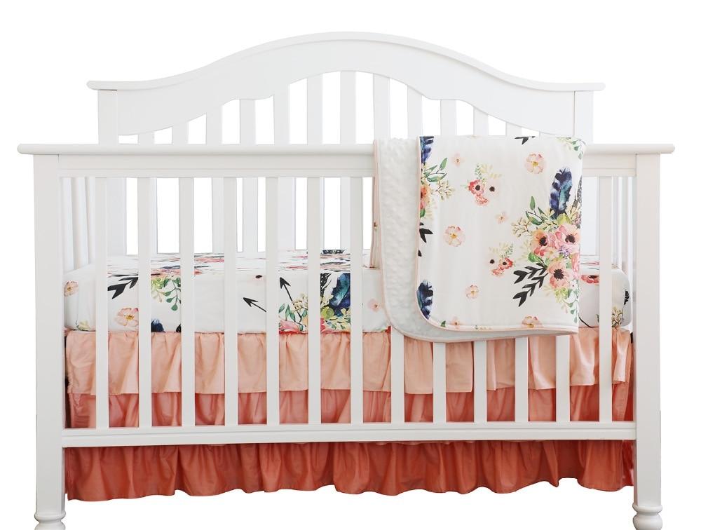 Crib Bedding Set C Ruffle Skirt