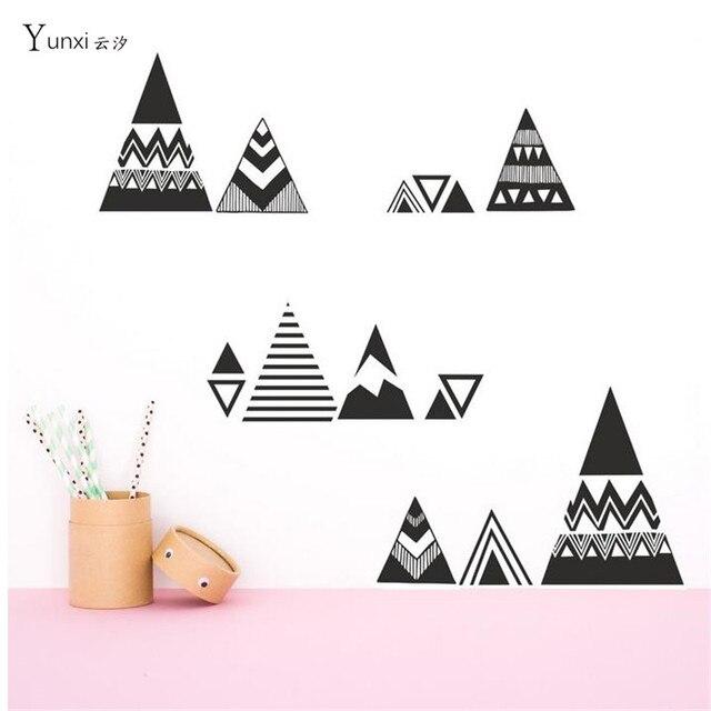 Decoratie Stickers Kinderkamer.Yunxi Nieuwe Etnische Stijl Geometrische Driehoek Kleine Hoorn