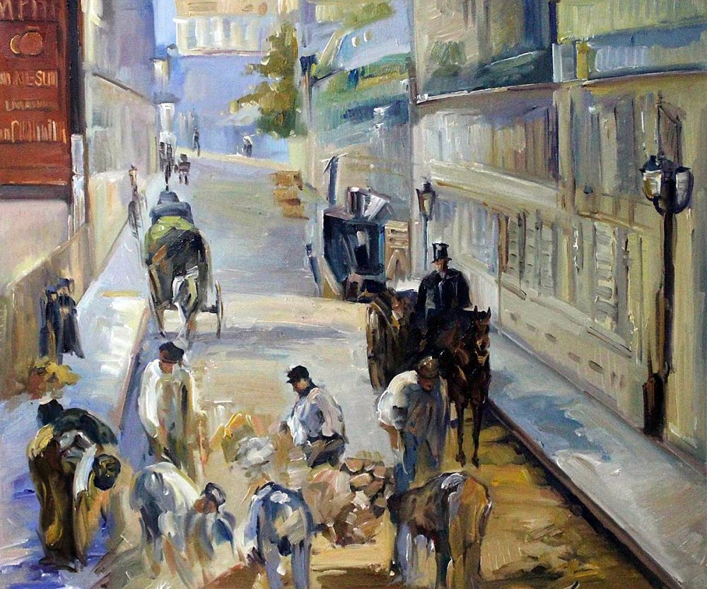 Online Buy Wholesale street scene painting from China