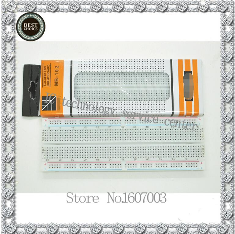 MB-102 breadboard test board universal board 830 hole bread board white red line ...
