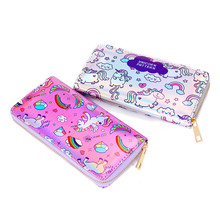 Cartoon Wallet Female Clutch Long Holographic Ladies Bag Girl With Zipper Coin Purse Childern Card Id Holders Women Wallets