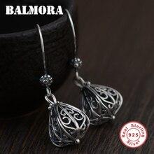 BALMORA 925 Hollow pendientes de gota para las mujeres regalo de la madre elegante Retro pendientes de moda Brincos SY31300