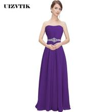 Elegant Diamonds Bridesmaid Wedding Long Party Dress Women S