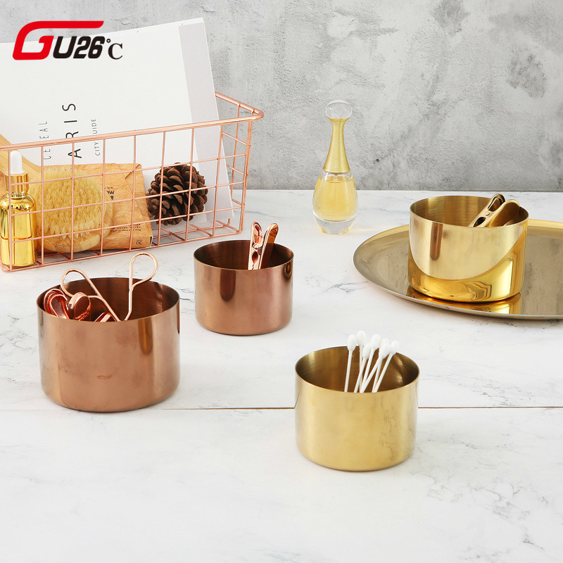 3f11c08e85 Northern Europe Style Golden Rose Gold Storage Jars Bottle Kitchen Tool For  Table Or Home Storage Organizer Good Gift For Friend