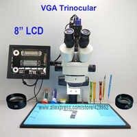 efix 2MP 3.5-90X 8 inch Soldering Trinocular Stereo Microscope Stand Lens VGA Digital Camera for Repair Mobile Phone Tools