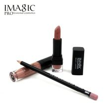 IMAGIC lip Makeup Waterproof Strawberry Long Lasting Lipgloss+ Lipstick+ LipLiner Pencil Makeup Set