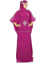 New Dubai Kaftan Purple Silky Satin Long Prom Dresses 2016 Vestido Longo Fancy Muslim Hijab Long Evening Dresses To Party