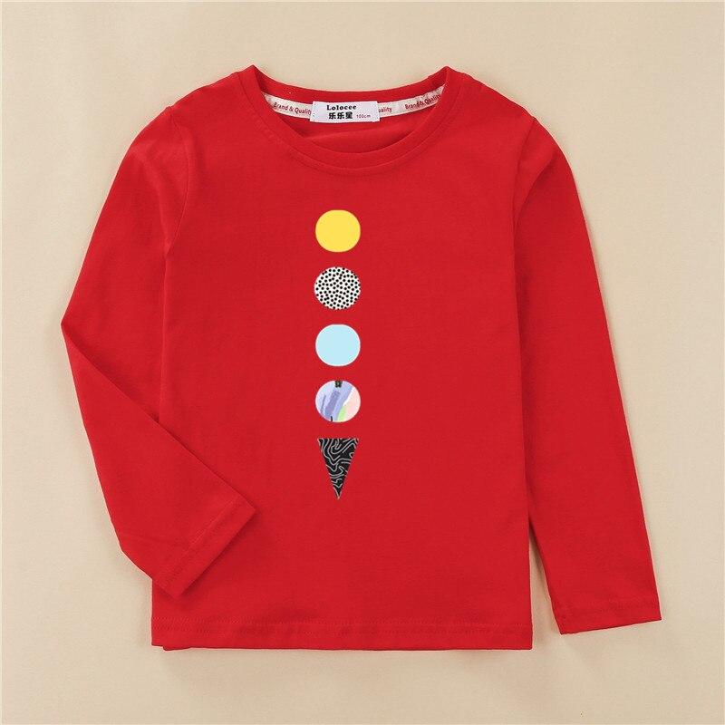 Kids US size clothes children tops 100% cotton shirt boy long sleeve t-shirt 4 planet design girl pineapple print tees 2