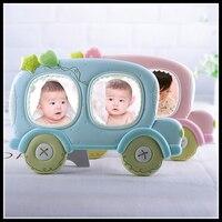 ElimElim Regalo para Bebé Marco de Fotos de Moda Marco de Fotos Resina 3 pulgadas 2 Cavidades Accesorios Del Coche Tapices Regalo de La Novedad