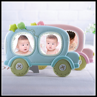 Gift For Baby Resin 3 Inch 2 Cavities Fashion Photo Frame Picture Frame Car Home