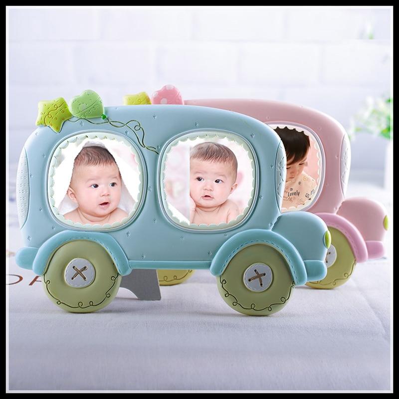 Mode fotoram Fotoram Gåva för babyharts 3 tums 2 hålrum Nyhet - Heminredning - Foto 2