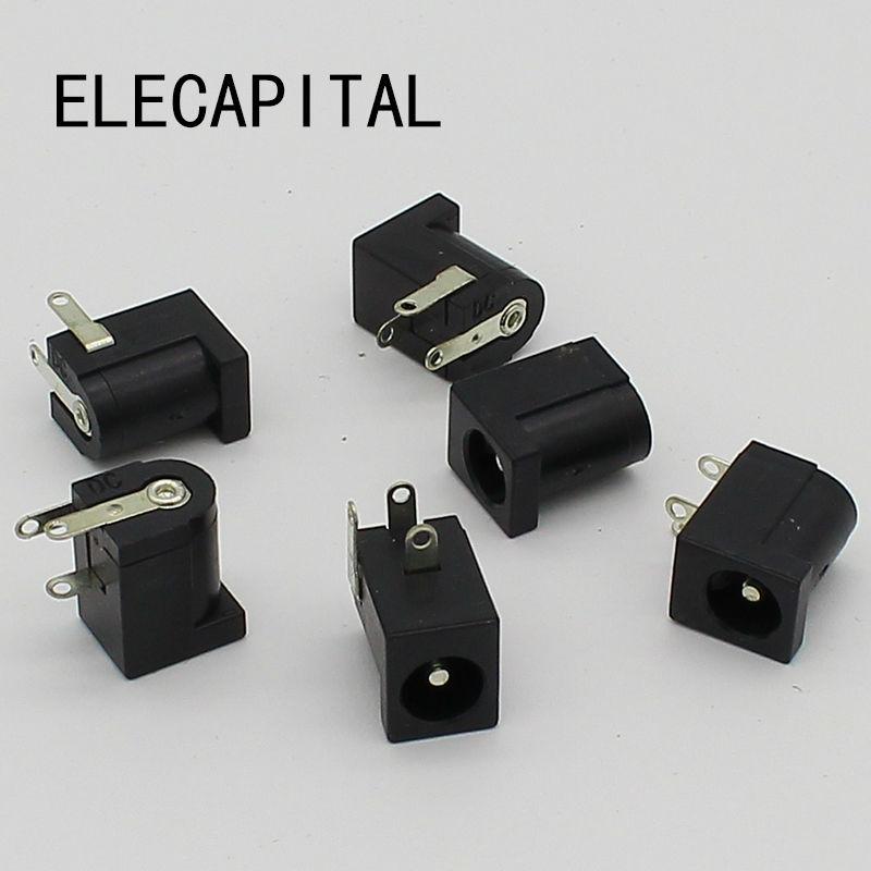 10pcs DC Jack Socket 5.5 X 2.1 Mm DC-005