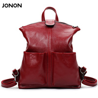 JONON Women Backpack High Quality PU Leather Mochila Escolar School Bags For Teenagers Girls Top Handle