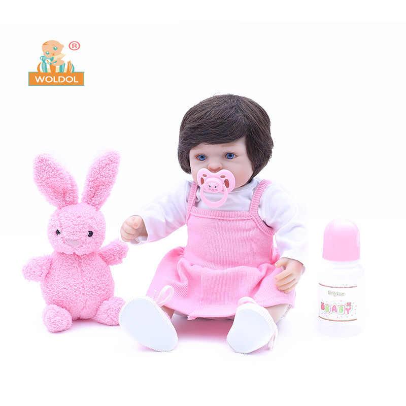 Фото Милые реалистичные куклы Reborn силиконовые виниловые Спящая девочка игрушка кукла