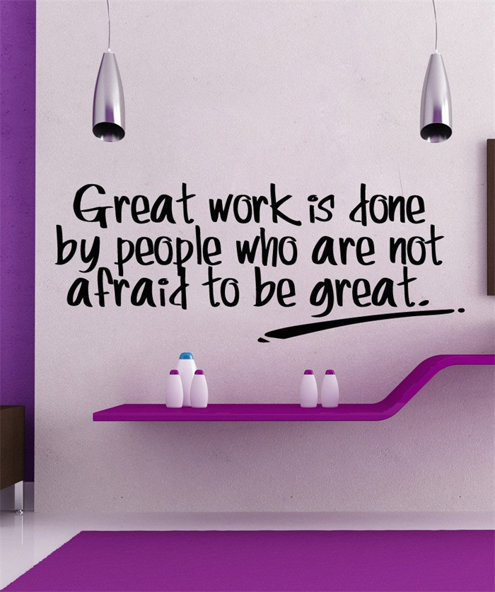 great work quote living room home schools offices vinyl carving wall decal sticker for home window