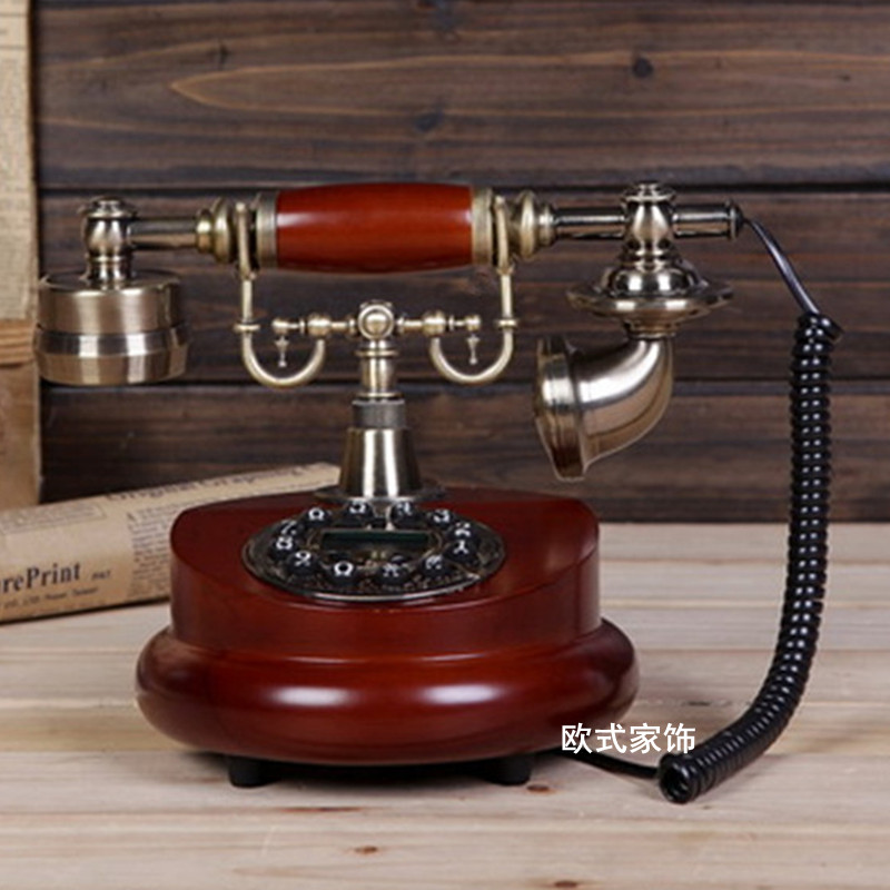 European antique home phone special offer new retro fashion telephone Decoration home art rustic household corded phone