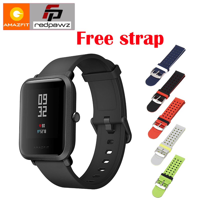 [Free Strap] 2018 Xiaomi HUAMI Amazfit Smart Watch Youth Edition Bip BIT PACE Lite 32g ultra-light Screen 1.28 Waterproof GPS умные часы huami amazfit bip youth edition оранжевый