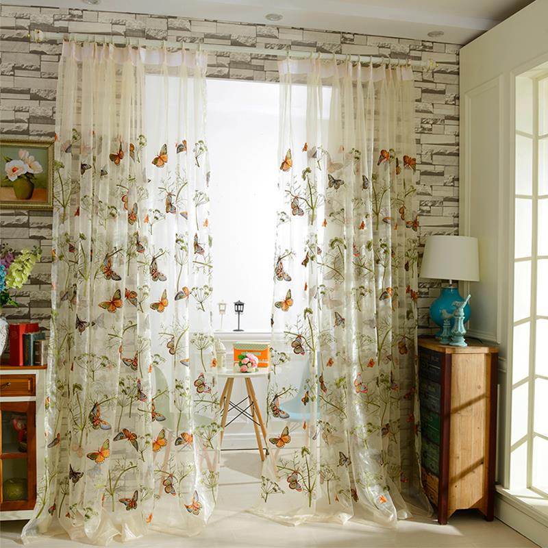 Retro Blackout Curtains For Living Room Bedroom Hotel Decor Sheer Curtain Voile Collocation Customized Printed Tulle