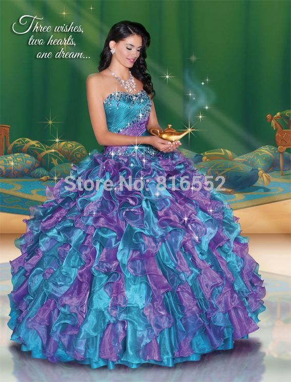 Quinceanera Dresses Purple with Blue Promotion-Shop for ...