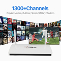 Leadcool Android Iptv Box Media Player Include Arabic French 1300+European Sky Italy UK Full Live European Sports IPTV Channels