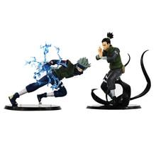 2 סגנונות אנימה נארוטו פעולה איור Hatake קאקאשי נארה Shikamaru PVC איור אסיפה דגם צעצועי מתנה לילדים 12  15 cm