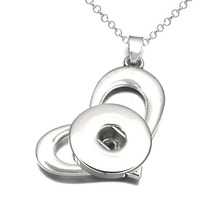 Wholesale Heart 071 Ginger fit 12mm 18mm Snap Button Jewelry Pendants Necklace Interchangeable Charm For Women gift