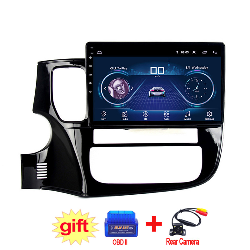 10.1inch IPS and 2.5D Touch Screen Android 8.1 Car DVD GPS Navigation for Mitsubishi Outlander 2013-2018 Radio Audio Stereo